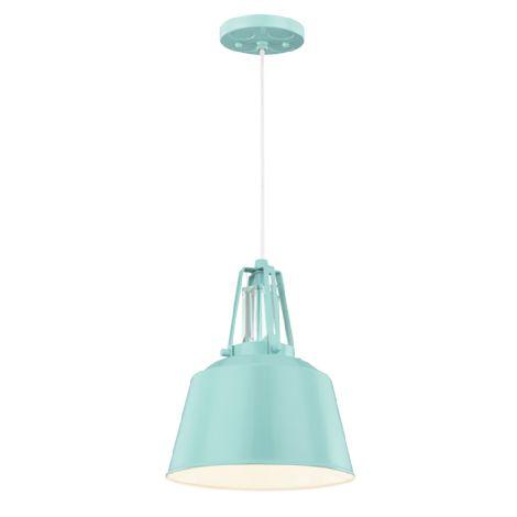 mini suspendu de style industriel bleu lustr id al pour ilot chambre et salle de bain. Black Bedroom Furniture Sets. Home Design Ideas