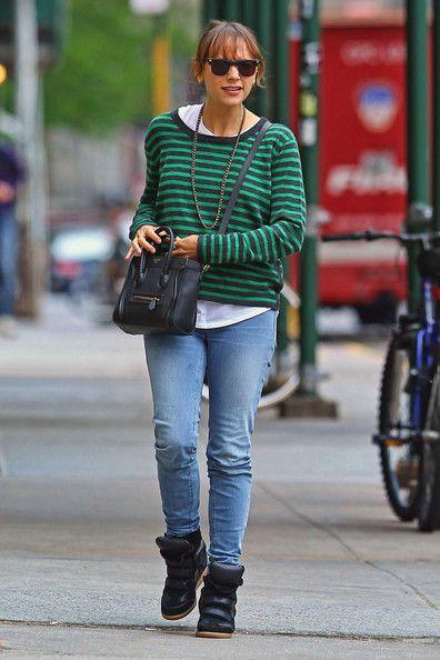 Rashida Jones in Isabel Marant Sneakers