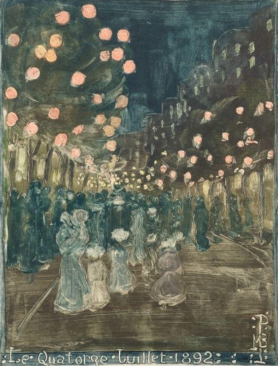 Maurice Prendergast - Bastille Day (1892)