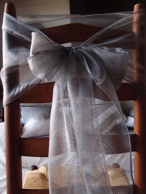 organza chair ribbons