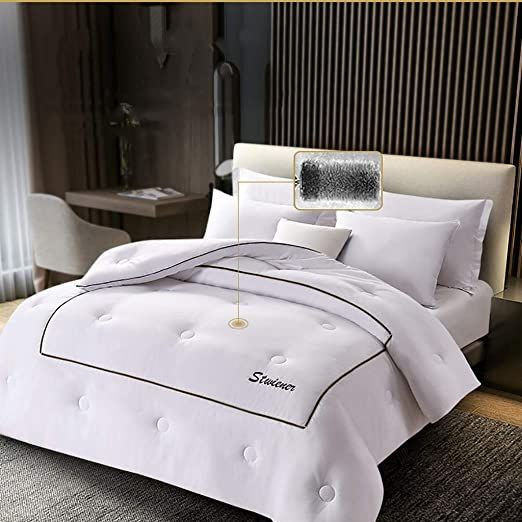 All Season Quilted Down Alternative Comforter Hotel Collection Reversible Duvet Insert With Corner Ties Soft Microfibe Hotel Collection Duvet Insert Comforters