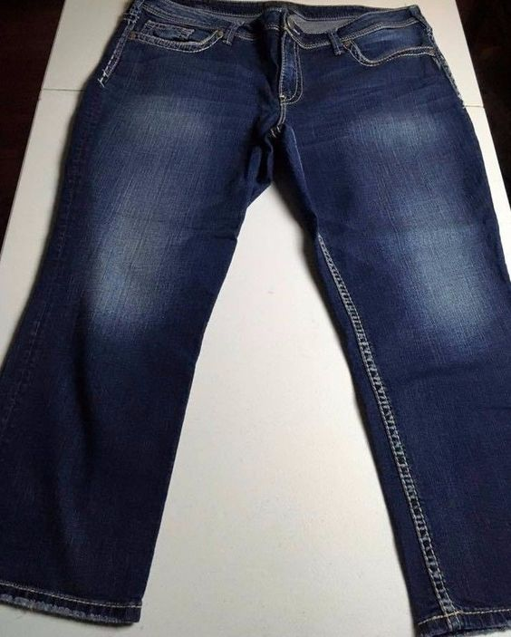 SILVER JEANS Suki Capri Jeans Women's Plus Size 20 x 26 Inseam ...