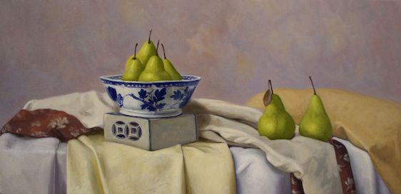Crispin AKERMAN – Chinese Bowl and Green Pears