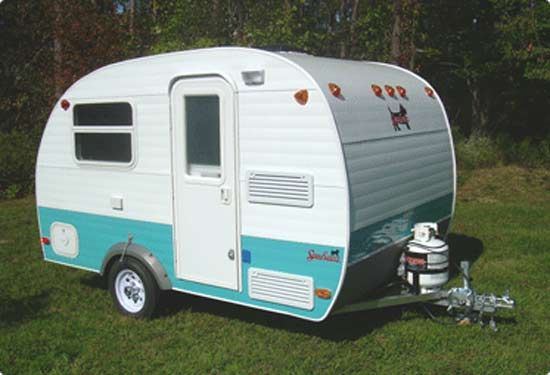Serro Scotty Scotty Pup small travel trailer exterior Vintage