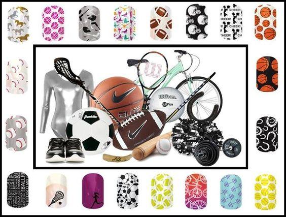 Hobby & sports themed nails! www.kristinhaworth.jamberrynails.net