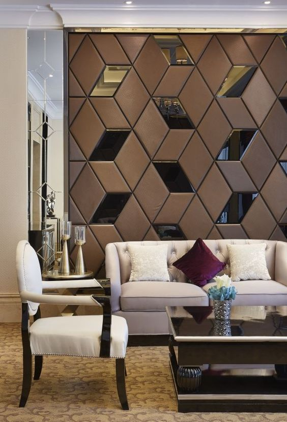 Glamorous And Exciting Restaurant Decor See More Luxurious Interior Design Details At Brabbucontract Com Wall Panel Design Interior Wall Design Interior Walls