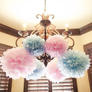 gender reveal decorations--- how would you make this?