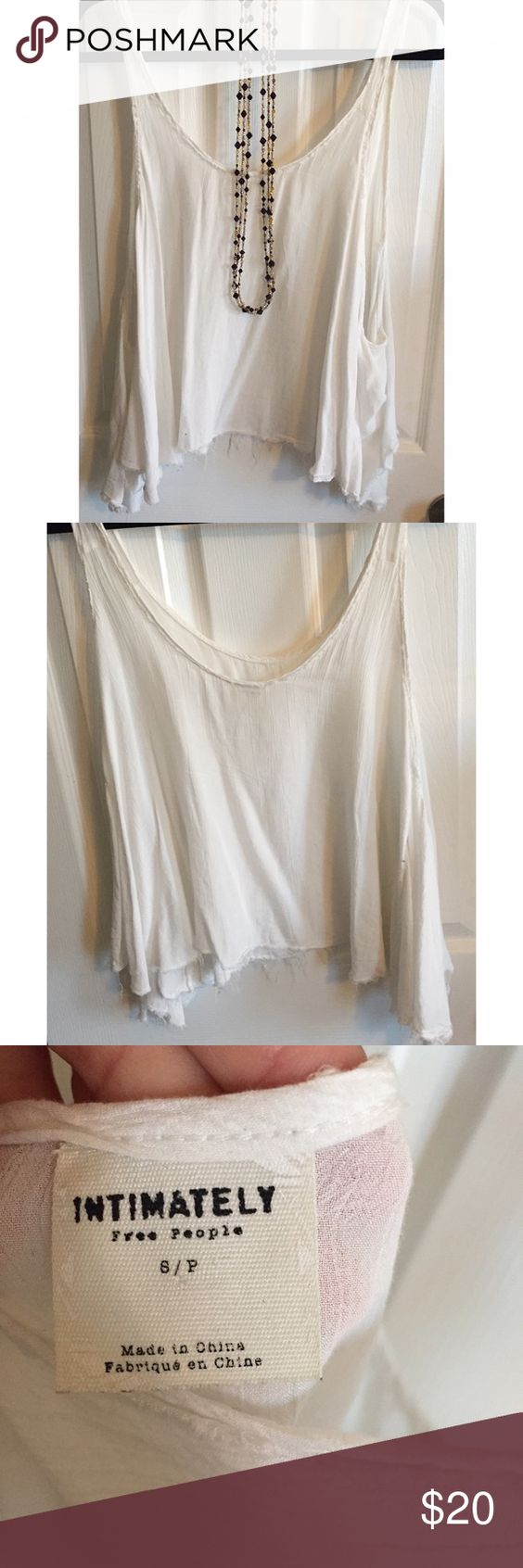 Free People Intimately White Tank Popular Free People Intimately White Tank Top, size small. Tops Tank Tops