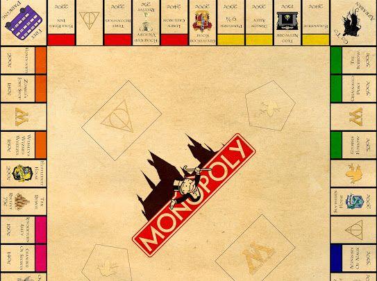 Harry Potter Monopoly Printing Google Drive