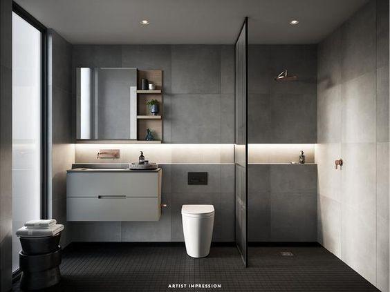 Pin by Nabil ZA on Designs | Rustic bathroom shelves ...