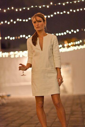 emerson fry white mod dress