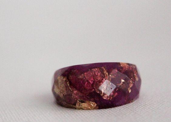 anillo de resina