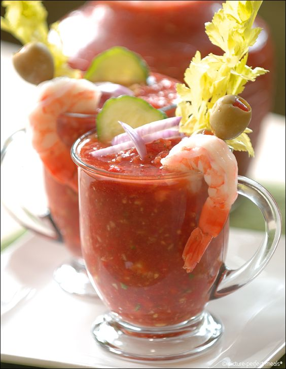 Bloody mary, Gazpacho and Meals on Pinterest