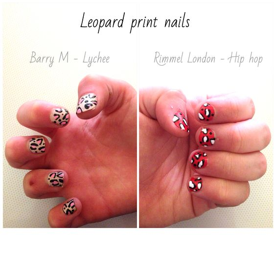 Leopard print nails - painted both mine and my sisters nails today, love this pattern!
