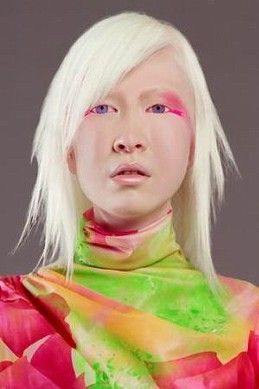 Connie Chiu is the first albino Chinese model with blue ...
