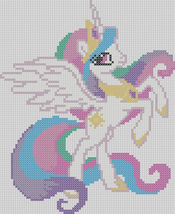My Little Pony Inspired Pattern - Princess Celestia by StitchedPixels