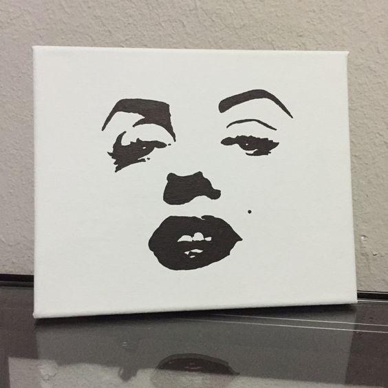 14x18 Marilyn Monroe Painting by babydollcraftz on Etsy
