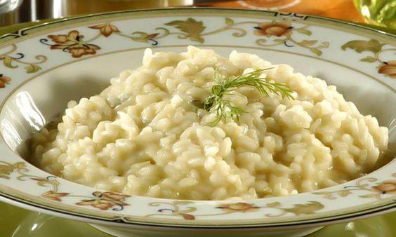 Receita de Risoto com quatro queijos - Arroz e risoto - Dificuldade: Fácil