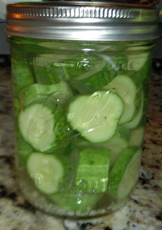 Refrigerator Dill Pickles (Like Claussen's) Super Crisp!!  There's no sugar in these. I'm not a fan of sweet pickles.