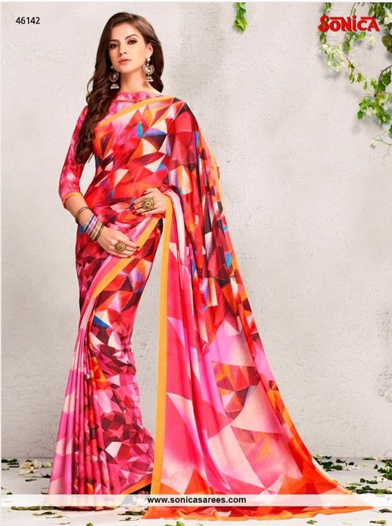 Price range Rs 2790/- Link: http://www.sonicasarees.com/sarees?catalog=4004 Shipped worldwide. Lowest Price guaranteed.