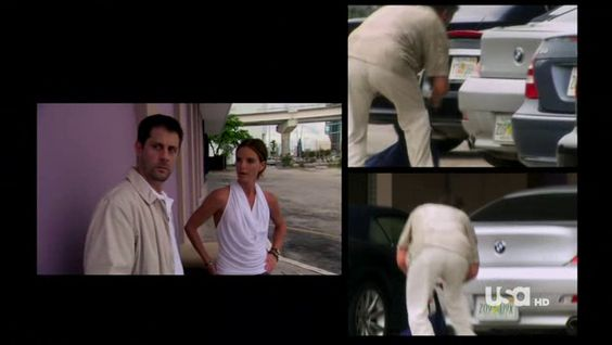 "Burn Notice 4x12 ""Guilty as Charged"" - Fiona Glenanne (Gabrielle Anwar), Sam Axe (Bruce Campbell) & Rudy (Tommy Groth)"