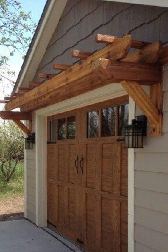 Pergola Trellis Shed Roof Wood Garden Buildings In 2020 Garage Door Design Garage Doors Garage Pergola