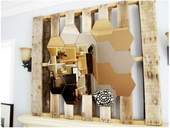 #fab #Mirror #DIY #decor #honeycomb I love this deconstructed/constructed look. 3