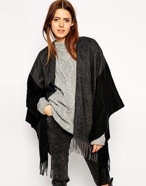 Color block black cape Shop the #blackfriday sale now #asos 30% off code TGIBF til 11.30