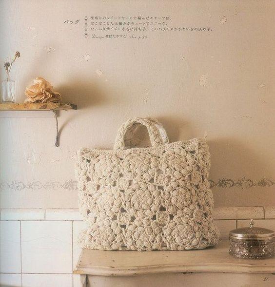 Crochet Tote (y fotos de muchas bolsas)