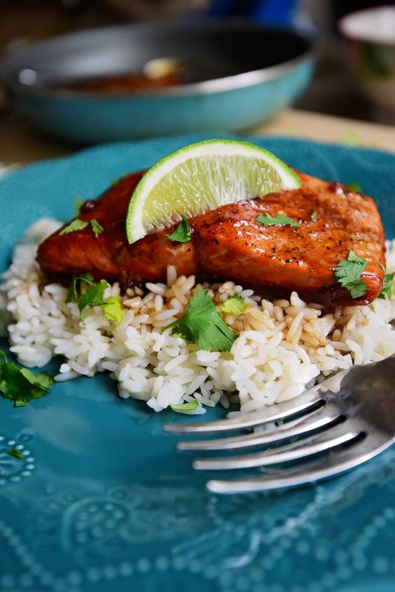 Honey Soy salmon - I used coconut aminos to make it Paleo - really good!!!