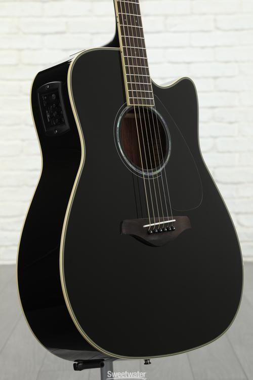 Yamaha Fgx830c Dreadnought Cutaway Black Acoustic Electric Guitar Acoustic Electric Yamaha