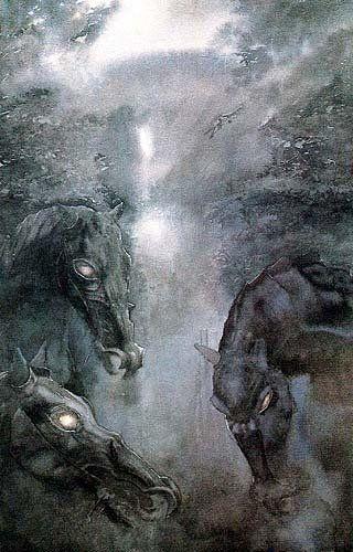 Alan Lee illustration for Tolkien