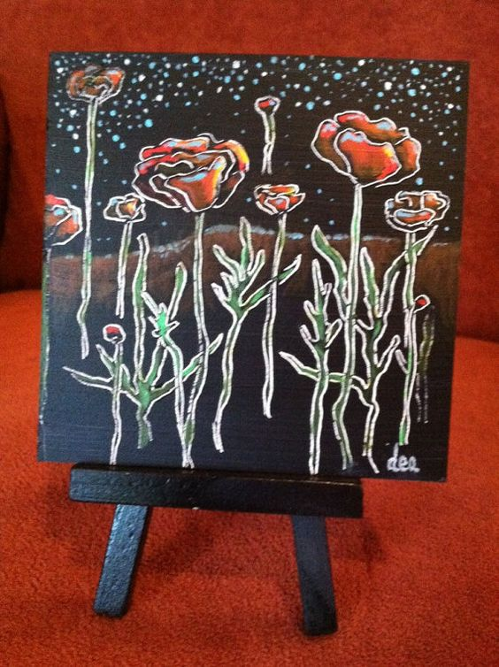 Night Blooms Fine Art Flowers by AsTheCroweFlies on Etsy, $80.00