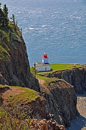 #lighthouse , Cape d'Or, Cape Breton Nova Scotia, #Canada: