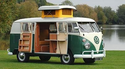 Camping holidays: Heaven in a VW  Clover Stroud and her children take to the road in an original VW camper van and wallow in a weekend of glorious nostalgia... and mud.