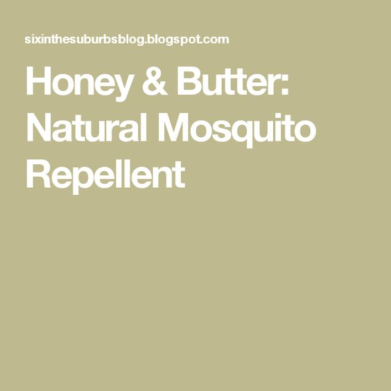 Honey & Butter: Natural Mosquito Repellent