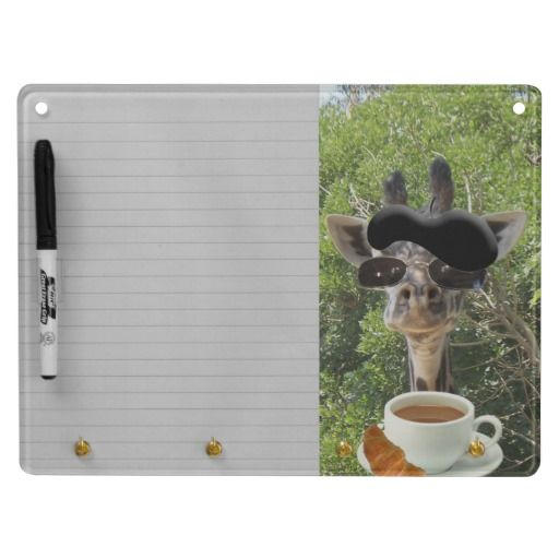Le Cool Giraffe Dry-Erase Board.  This little fellow can be found throughout my shop dressed for a variety of occasions with more to come.