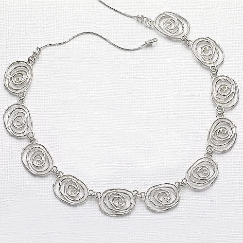 american smooth silver necklace