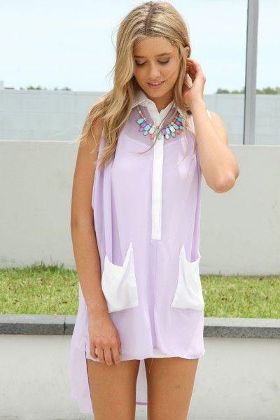 Lavender Shirt Dress