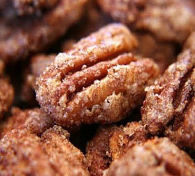 Holidays!  ~Cinnamon Sugared Pecans...this will be a great gift in a mason jar & raffia :)