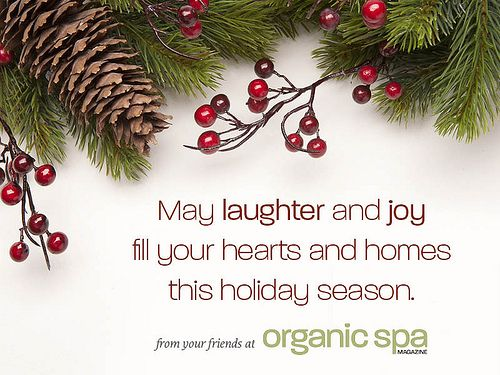 Happy Holidays from your friends at Organic Spa Magazine!: Secret Board, Happy Holidays