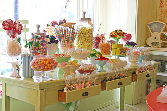 candy store display