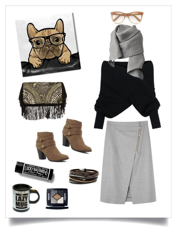"""""""Gray Thursday #5"""" by xanthik ❤ liked on Polyvore featuring Acne Studios, Oliver Gal Artist Co., WithChic, Christian Dior and Wildfox"""