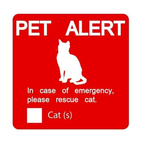 Dog and Cat Emergency Window Cling