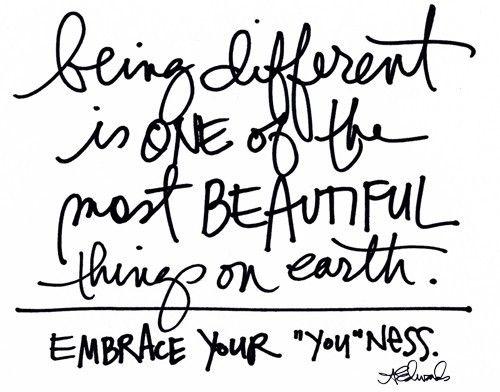 beautiful, different