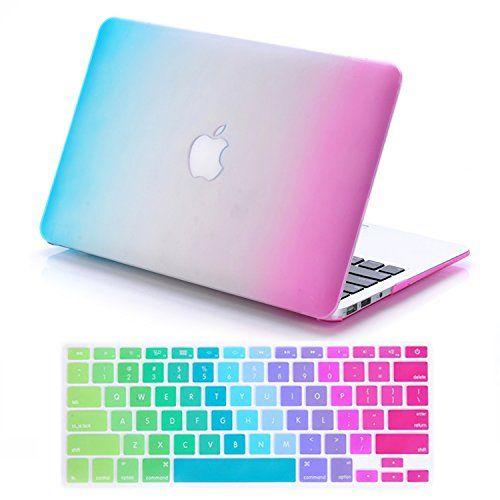 """IDACA Rainbow Hard Shell Case Cover for Macbook Air 13"""" 13.3"""" A1369 & A1466 and 2014 New Macbook Air 13"""" with Silicone Keyboard Cover (USA KEYBOARD VERSION): Amazon.co.uk: Computers & Accessories"""
