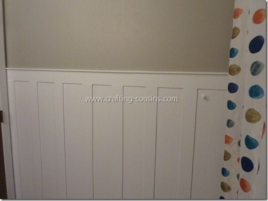 crafty cousins diy beadboard  wainscoating for less than