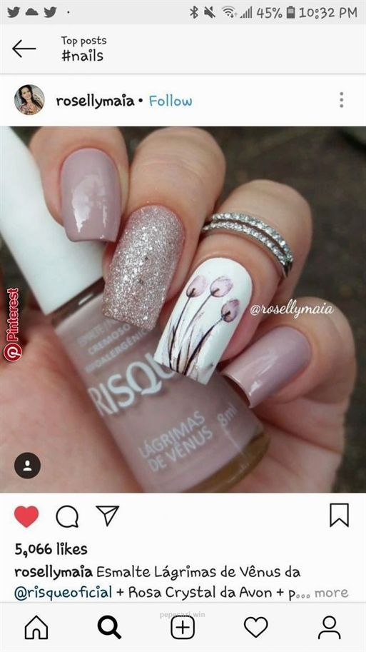 Bellas In 2020 With Images Acrylic Nail Designs Floral Nails