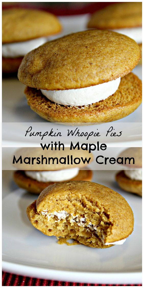Pumpkin Whoopie Pies with Maple-Marshmallow Cream Filling...for a ...