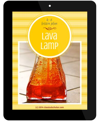 Free Homeschool Science Lesson Plan on Chemical Reactions | FREE homeschool lesson plan to make your own lava lamp.  Teach the scientific method as it relates to chemical reactions.
